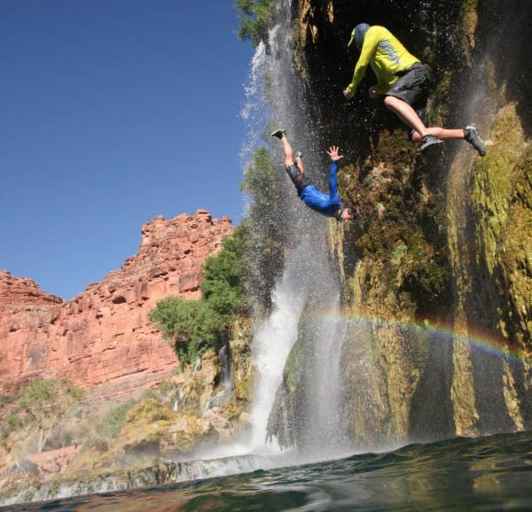 Grand Canyon waterfall fun