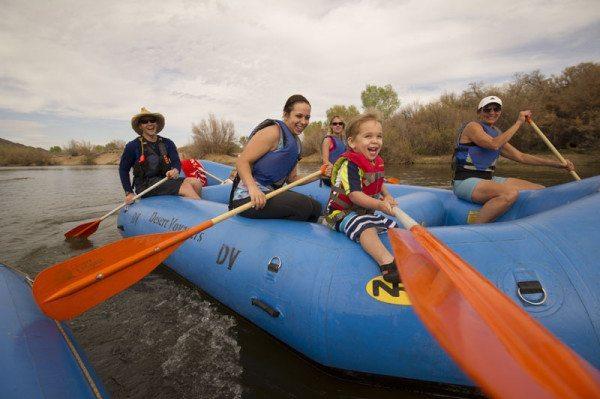 Family Float trip Salt River Rafting