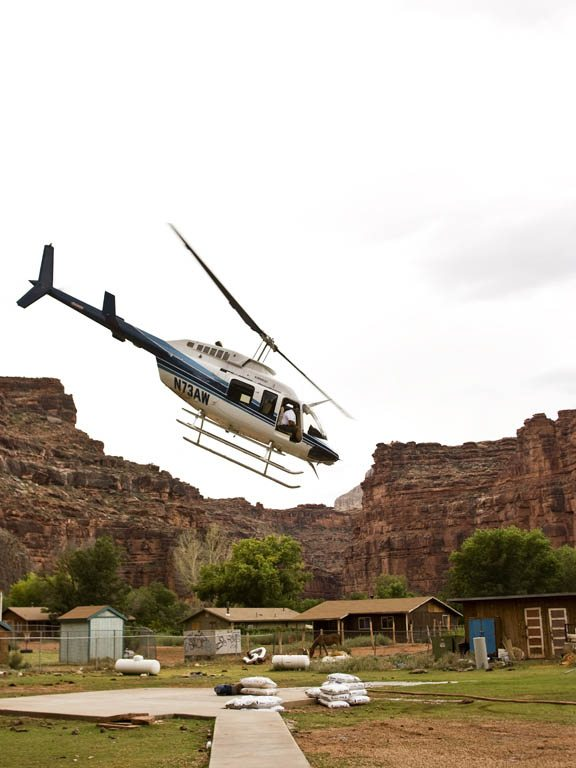 Havasupai Falls Grand Canyon Helicopter Images