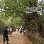 Hiking into Havasupai falls