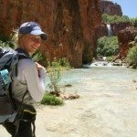 Hiking to Mooney Falls in Havasupai
