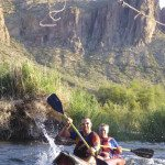 Kayak on the lower Salt River on a guided tour with AOA