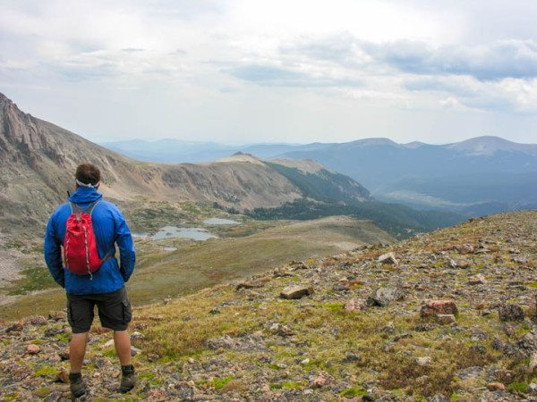 backpacking in the rocky mountains near thunder lake