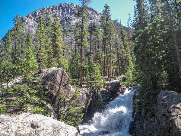 hike to cascade calls in rocky mountain national park