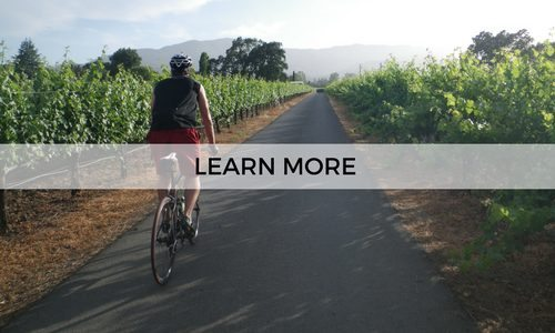 Go on a self guided cycling trip through Napa Valley lead by AOA