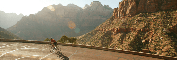 Cycling Zion Park Road