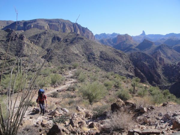 guided backpacking trip in the Superstiton Wilderness with AOA