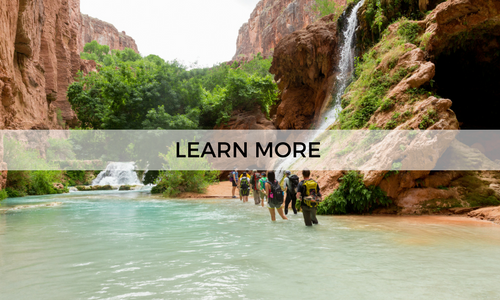 Go on a guided 5 day hiking adventure to Havasupai with AOA
