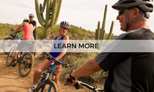Go on a guided half day mountain bike tour with AOA