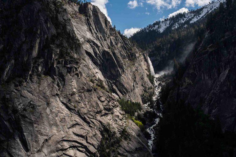 View of Illiluoette Falls at Yosemite National Park.