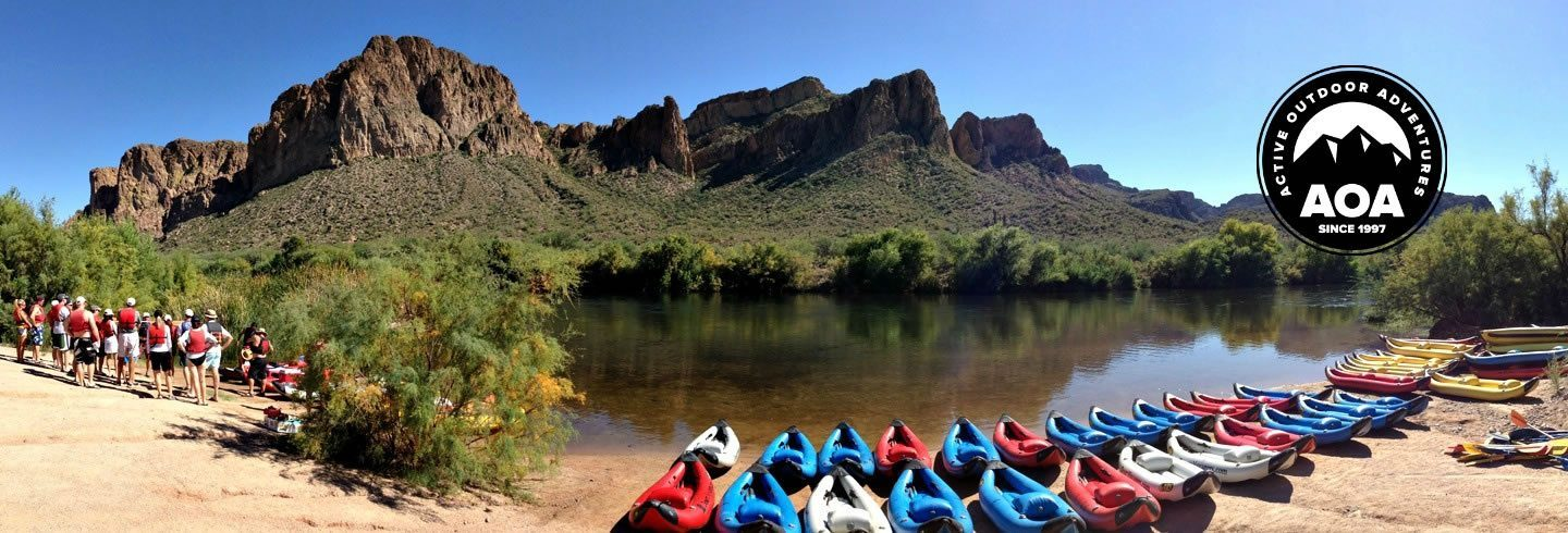 Kayak tours on the Lower Salt River