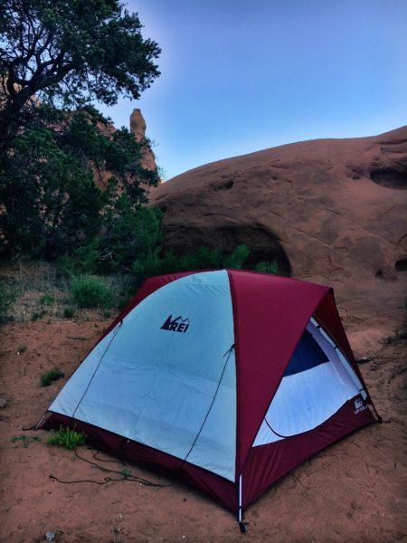 camping in Kodachrome Basin, Utah