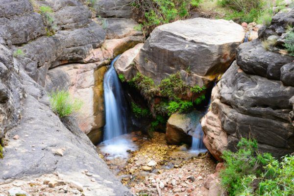 Waterfall on Grand Canyon Bright Angel Trail.