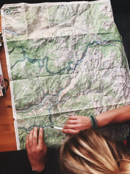 A crumpled up map.