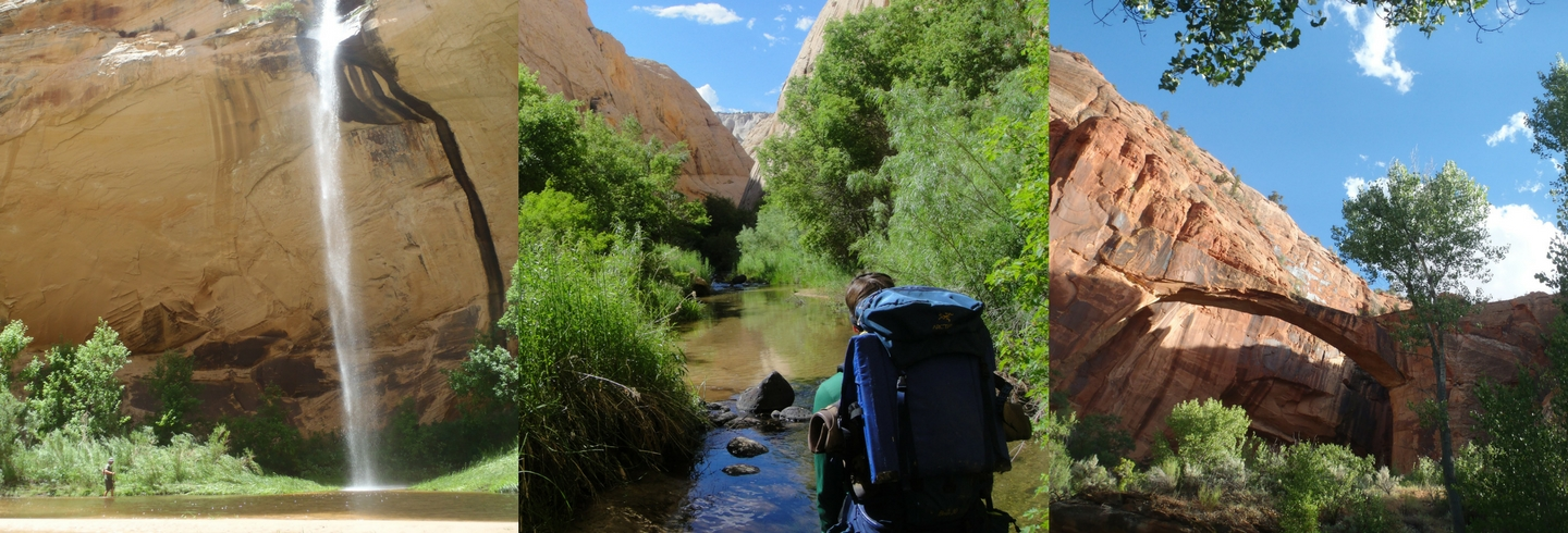 go on a guided backpacking trip through the Escalante River of Southern Utah