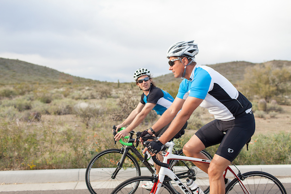 cyclist riding in Arizona