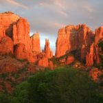 Sunset over Cathedral Rock in Sedona, Arizona