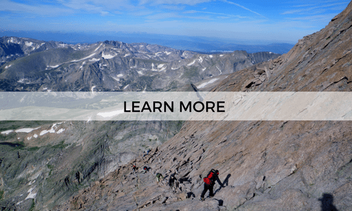 learn more about a guided backpacking trip to summit Longs Peak in Rocky Mountain National Park
