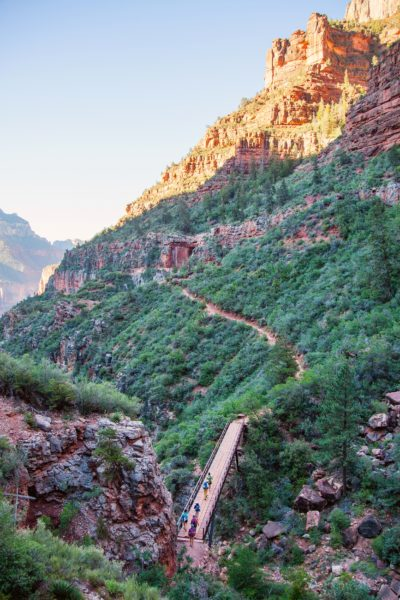 A long trail at the North Rim of the Grand Canyon.