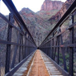 Looking up from the Black Bridge, crossing the Colorado River.