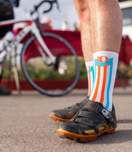 bike shoes on road cyclist in Arizona