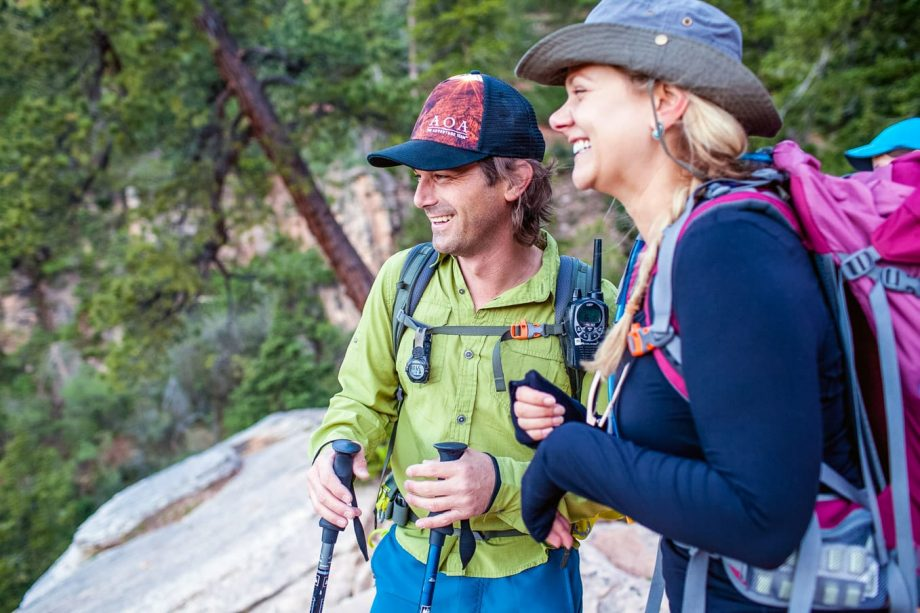 Hikers laugh during Grand Canyon hiking tour
