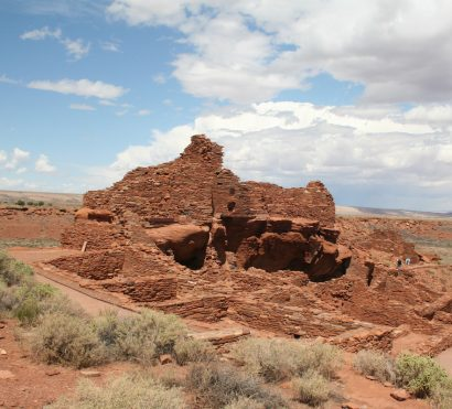 Visit Wupatki National Monument indian ruins on a Sedona and Grand Canyon road bike tour