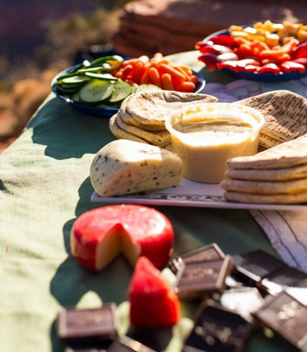 Picnic lunch enjoyed by Grand Canyon backpacking trips