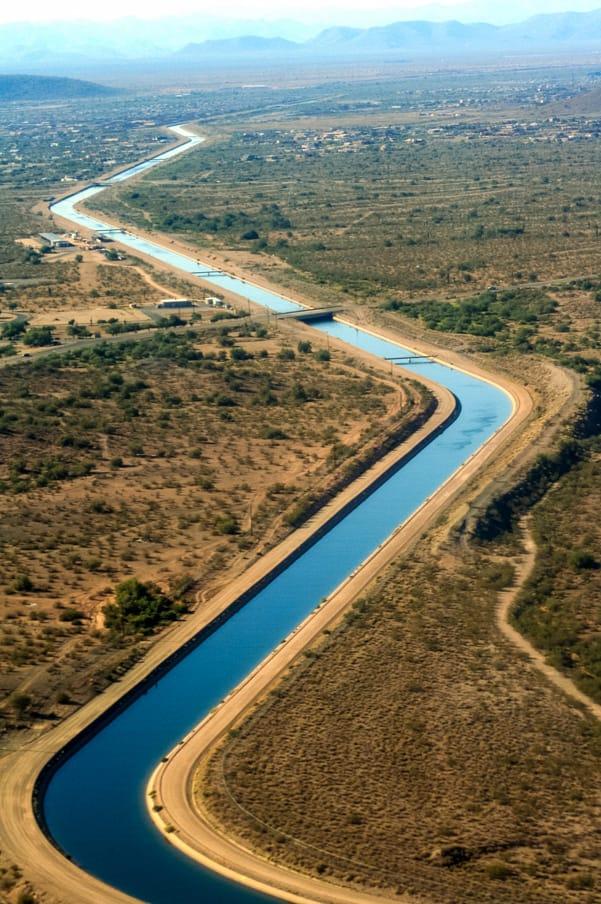 Aerial view of Arizona waterway