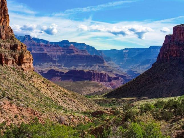 Grand Canyon seen on Phantom Ranch hiking trip