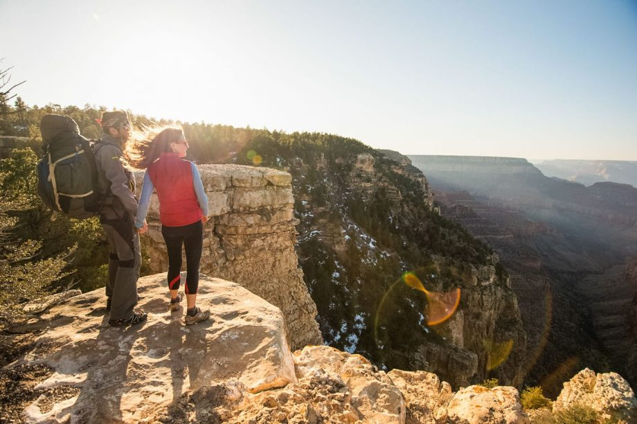 Cliffside hikers appreciate view from Horseshoe Mesa Grandview trail