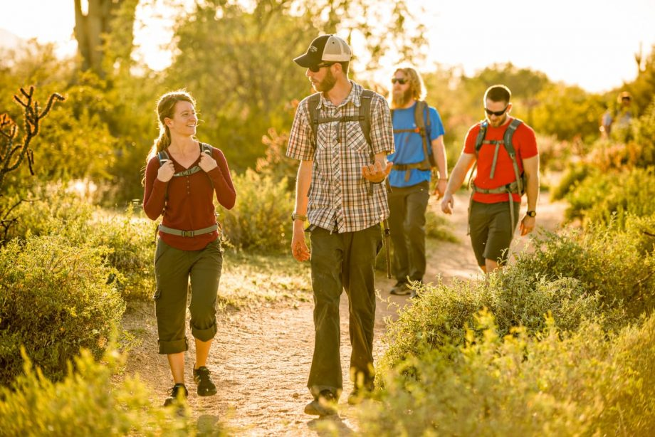 Hiking group treks through Arizona desert on day trip