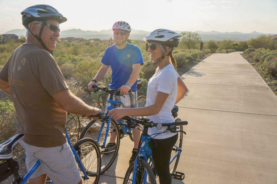 Cyclists on Scottsdale neighborhood road bike tour