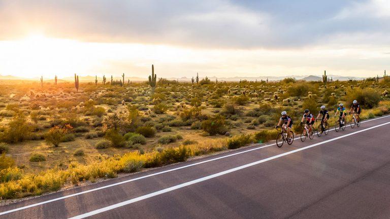 Cycling group rides desert edge on Phoenix mountain bike tour