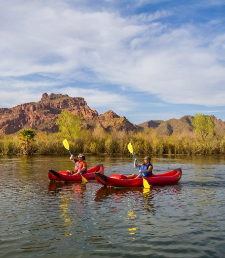 Kayakers paddle Lower Salt River on Arizona tour