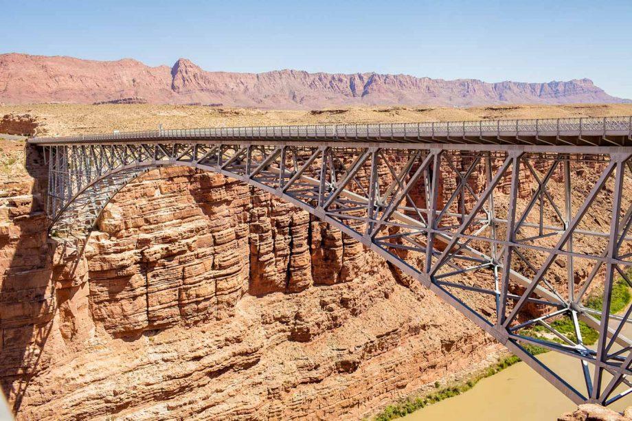 Bridge over river on North Rim of Grand Canyon