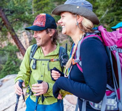 Laughing hikers on Grand Canyon North Rim trip