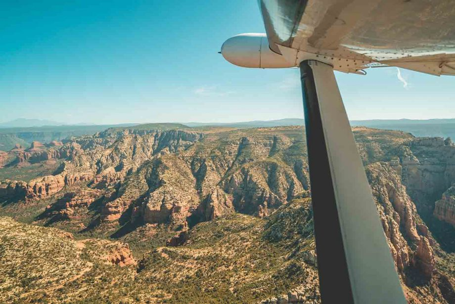 Aerial view of the Grand Canyon from West Wind Air Tours