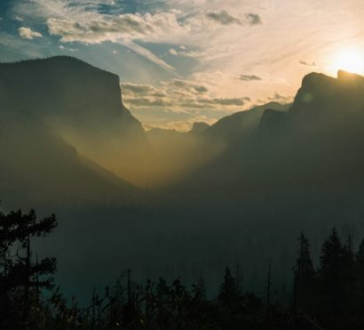 Sunrise at Tunnel view Yosemite National Park