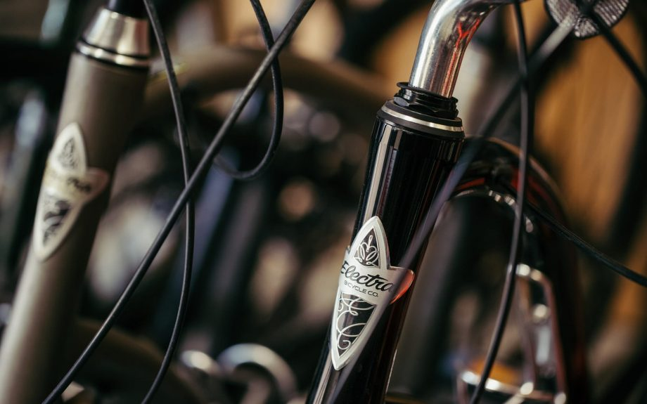 Close up of Electra Townie bike frame