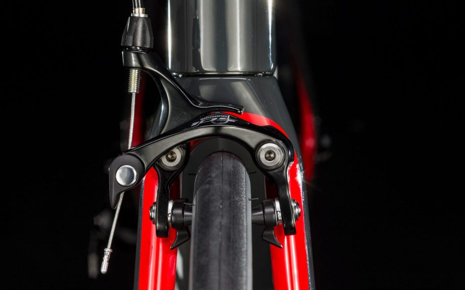 Close up of Trek Domane bike brakes