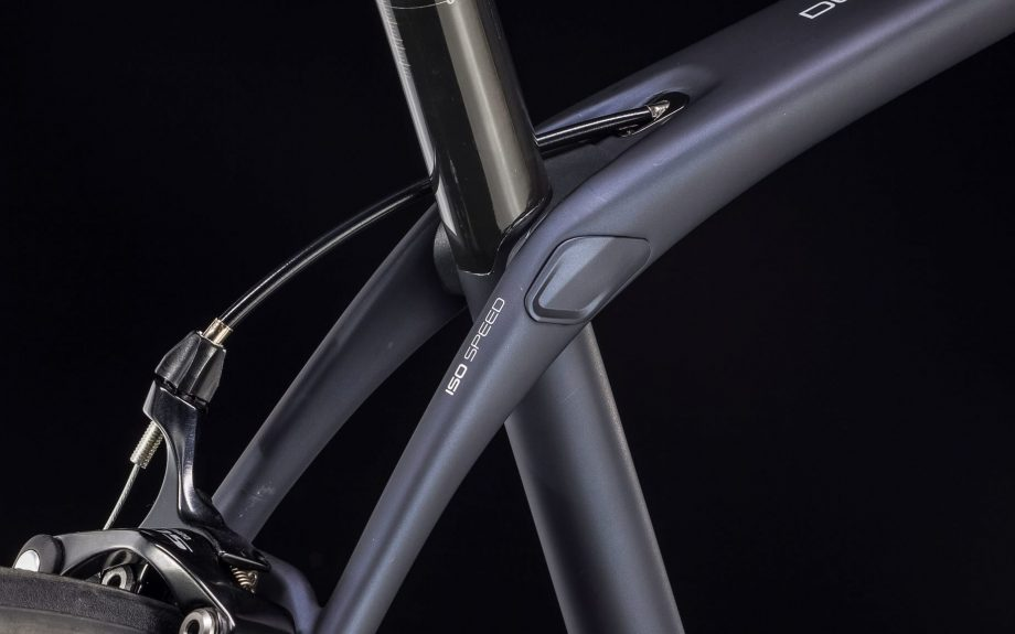 Close up of Trek Domane SL5 bike frame