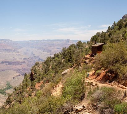 Hiking up Bright Angel Trail at the Grand Canyon