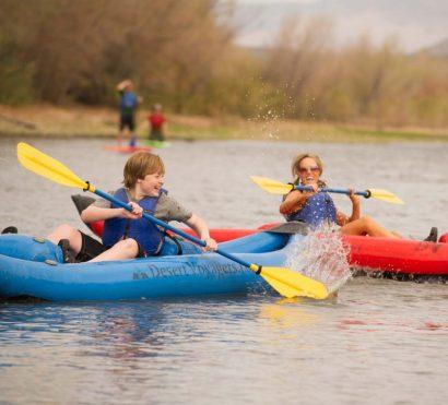 Kayak and paddle board at Saguaro Lake