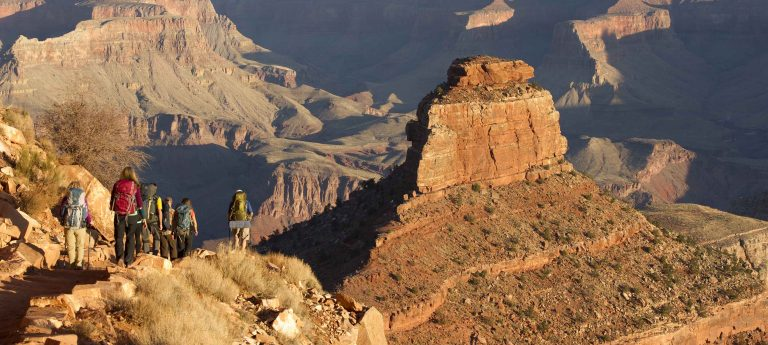 Backpackers in the Grand Canyon.