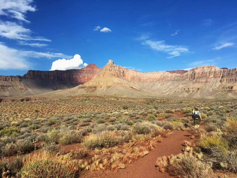 backpacking the boucher trail in the grand canyon
