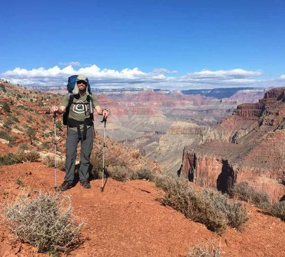 backpacking on the hermit trail