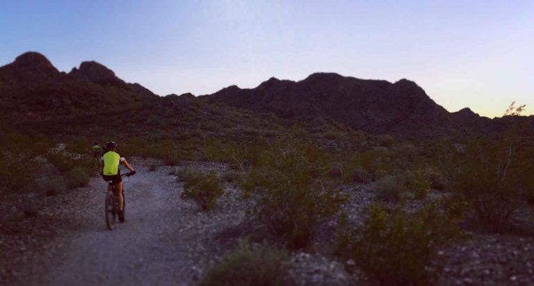 Mountain biker at Phoenix Mountain Preserve.