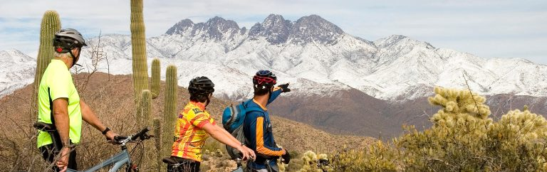mountain biking and gravel riding near Four Peaks Wilderness, Arizona