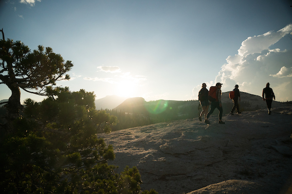 Guided hiking tour in Yosemite national park